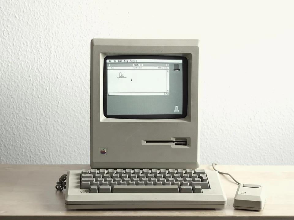 Old Mac computer.